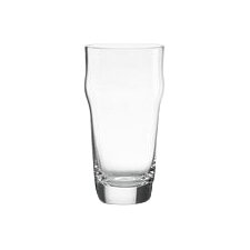 Tuscany Classics Craft Beer Pint Glass with Crown (Set of 4)