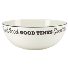 """Around the Table """"Good Friends Good Times"""" Serving Bowl"""