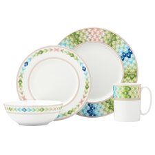 Entertain 365 Sculpture 4 Piece Place Setting