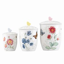 Butterfly Meadow 3 Piece Canister Set