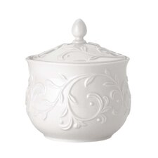 Opal Innocence Carved Sugar Bowl with Lid