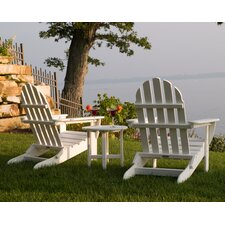 Classic 3 Piece Folding Adirondack Seating Group