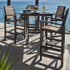 Coastal 5 Piece Bar Dining Set