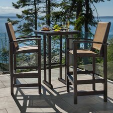Coastal 3 Piece Bar Dining Set (Set of 3)