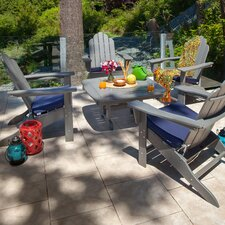 Long Island 5 Piece Conversation Adirondack Seating Group