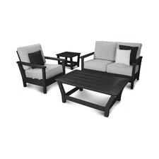 Harbour 4 Piece Deep Seating Group with Cushion