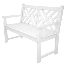 """Chippendale 48"""" Plastic Bench"""