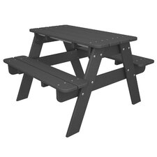 Kids Slate Grey Picnic Table