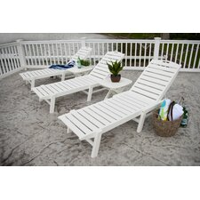 Nautical Wheel Chaise Lounge
