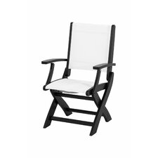 Coastal Folding Dining Arm Chair