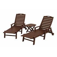 Nautical 3 Piece Chaise Set