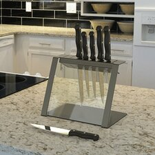 Katana Modern Glass and Steel Knife Holder