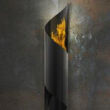 Nuvo Wall Mounted Steel Bio Ethanol Outdoor Fireplace