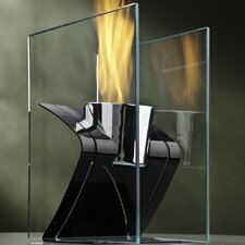 Zed Steel Bio Ethanol Tabletop Fireplace
