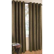 Cotton Grommet Top Single Curtain Panel