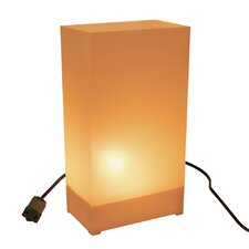 "10.5"" H Electric Luminary Kit Table Lamp with Rectangular Shade"