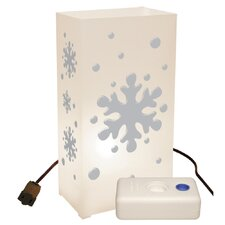 Snowflake 10 Count Electric Luminaria Kit with Lumabases (Set of 10)