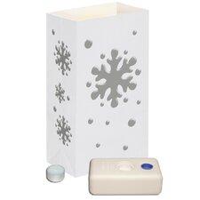 Snowflake Candle Luminaria Kit (Set of 12)