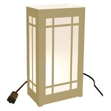 """10.5"""" H Mission Electric Luminaria Kit Table Lamp with Rectangular Shade (Set of 10)"""