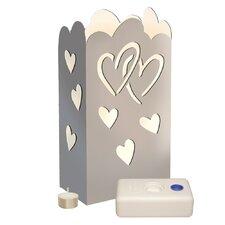 Silver Hearts Luminary Kit (Set of 24)
