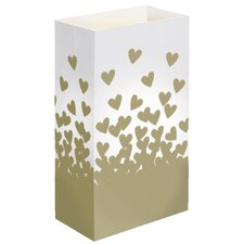 Hearts Luminaria Bags (Set of 24)