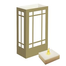 """10"""" H Mission LumaLites Indoor/Outdoor Lantern Table Lamp with Rectangular Shade (Set of 6)"""