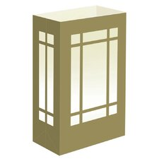 """10"""" H Indoor/Outdoor Light Bag Table Lamp with Rectangular Shade (Set of 12)"""