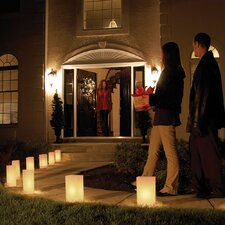 "10"" H LumaLites Indoor/Outdoor Lantern Table Lamp with Rectangular Shade (Set of 6)"
