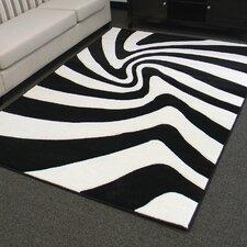 Hollywood Black and White Zebra Skin Area Rug