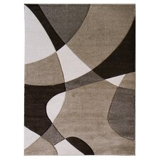 Hollywood Champaign Abstract Wave Area Rug
