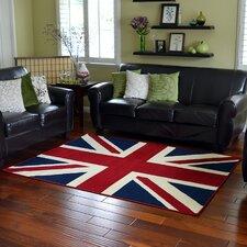 American Patriot Flag of British Union Jack Area Rug