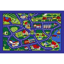 Paradise Design Street Map Area Rug