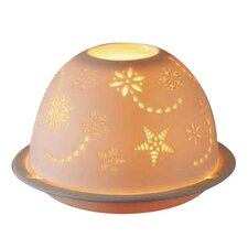 Snowflake Domed Porcelain Lantern