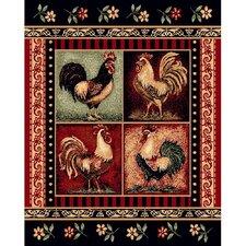 Lodge Design Rooster Novelty Rug