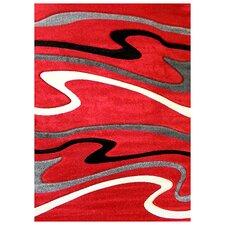 Studio 603 Red Wave Area Rug