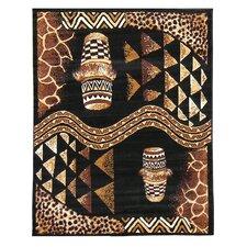 African Adventure Drums Novelty Rug