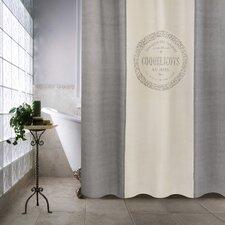 Metro Farmhouse Cotton Coquelicots Shower Curtain