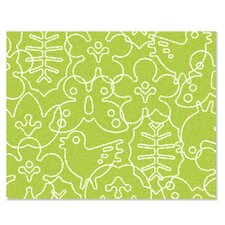 Season Lotus Green/White Area Rug