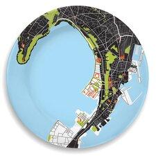 "City On A Plate 12"" Mumbai (Bombay) Dinner Plate"