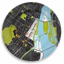 "City On A Plate 12"" Montreal Dinner Plate"