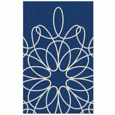 Ribbon Blue/White Area Rug