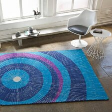 Eccentric Blue & Purple Area Rug