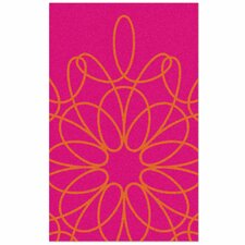 Ribbon Pink/Persimmon Area Rug