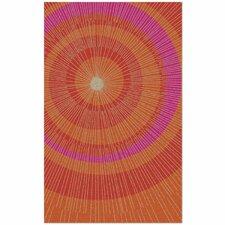 Eccentric Orange & Red Area Rug