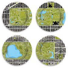 "Garden 12"" 4 Piece Central Park Plate Set"
