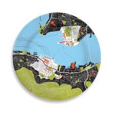 """City on a Plate 12"""" Hong Kong Dinner Plate"""