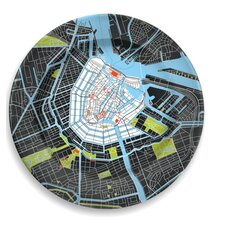 "City on a Plate 12"" Amsterdam Dinner Plate"
