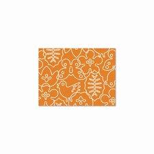 Season Persimmon Orange/White Area Rug