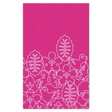 Season White/Pink Area Rug