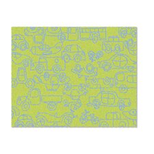 Kids Transport Green/Ozone Blue Area Rug